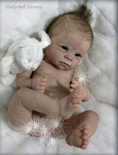 Dani & cloth body by Linda Murray - Online Store - City of Reborn Angels Supplier of Reborn Doll Kits and Supplies