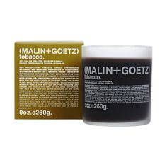 Malin+Goetz Tobacco Candle at Barneys.com I BET THIS SMELLS AWESOME!