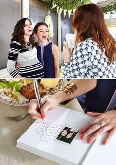 D Magazine's Amazing Baby Shower at Sissy's - Use Instax camera to snap instant wallet-size photos for book