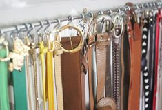 belt hook made from curtain rod and S hooks