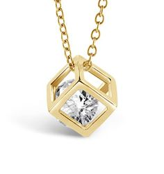 Gold Cube Necklace – Florence Scovel