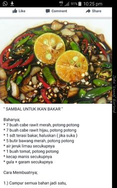Sambal ikan bakar Sambal Sauce, Sambal Recipe, Asian Cooking, Easy Cooking, Cooking Recipes, Indian Food Recipes, Asian Recipes, Tastemade Recipes, Malaysian Cuisine