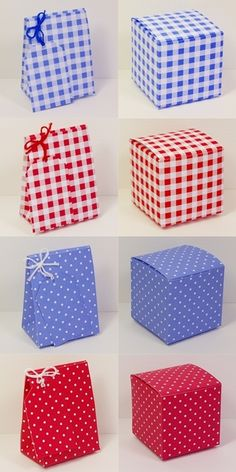 Free printable country cottage style gift boxes and bags with gift tags for table favours favor and small gifts.