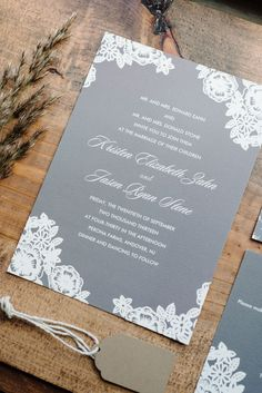 Wedding Invitations by Minted.com   -- See the wedding on #SMP here: http://www.StyleMePretty.com/tri-state-weddings/2014/04/17/new-jersey-barn-wedding-full-of-elegance/ -- Photography: Michelle Lange - www.loveandbemarried.com