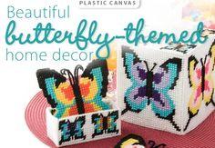 plastic canvas patterns butterflies | Butterflies Plastic Canvas Pattern from www.AnniesCatalog.com ...