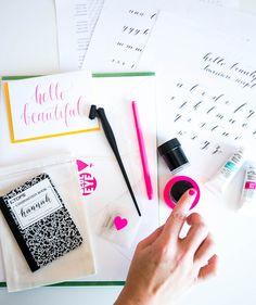 Image of blue eye brown eye beginner calligraphy workshop (wednesday morning)! How To Write Calligraphy, Calligraphy Letters, Typography Letters, Modern Calligraphy, Fancy Writing, Calligraphy For Beginners, Lettering Tutorial, Writing Styles, Penmanship