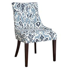 @Colby Flowers  Dining Chair, Blue Paisley at Big Lots.