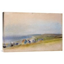 'Houses On The Cliff Edge at Villers-Sur-Mer' by Edgar Degas Painting Print on…