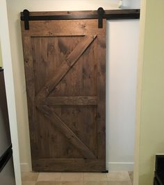 We Just Installed This British Brace Barn Door With Header In A Small Boston