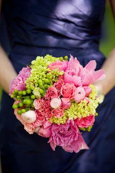 navy + pink #bouquet