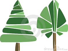 Geometric trees by Looknohands, via Dreamstime