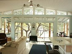 I like the feel of this house, open, airy, clean, brings the outdoors in, interesting details