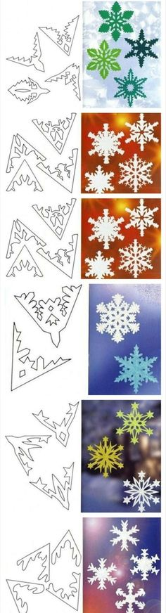 more paper snowflakes: