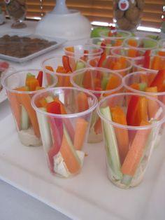 Vege & Dip Cups - Kids Party food