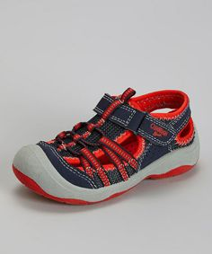 Love this Navy & Red Motion Sport Sandal by OshKosh B'gosh on #zulily! #zulilyfinds