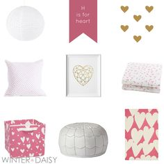 The Valentine Rug from Rosenberry Rooms has been featured in this adorable nursery inspiration board by Winter*Daisy!