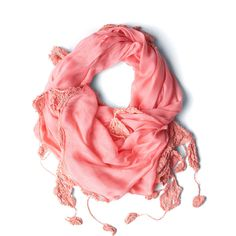Folk Fete Scarf in Pink ($24) ❤ liked on Polyvore