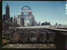 Chicago, 1943 – PBR Sign Against Great Depression Skyline