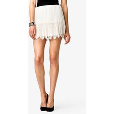 FOREVER 21 Dainty Lace Paneled Skirt ($16)