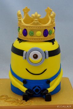King Bob Minion Cake Despicable Me Cakes Pinterest