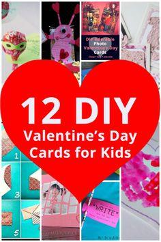 12 DIY Valentine's Day Cards for Kids #valentines #cards #DIY