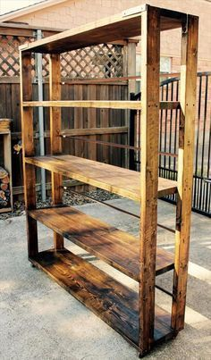 DIY Reclaimed Pallet Bookshelf / Bookcase | 99 Pallets