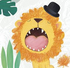 Sharon Harmer-illustrated lion