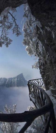 Snowy Zhangjiajie National Park, Zhangjiajie, China