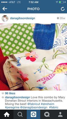 Green fabric, Dana Gibson