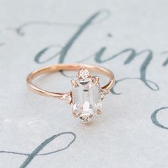 Engagement ring dreams really do come true! How beautiful is this ring by @susiesaltzman? Photography @camille.catherine   Calligraphy @justwritestudios #engagementring #ido #bmloves
