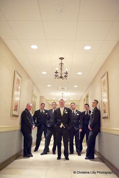 The #groom and his #groomsmen pose for a #wedding photo. www.CrystalBallroomNJ.com. Photo courtesy of Christina Lilly Photography.