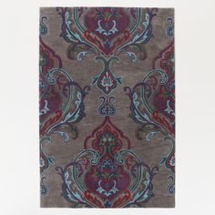 6x9 Grey and Plum Tufted Tatiana Rug   World Market on sale for $329.99
