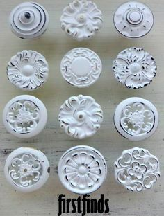 Inspiration for the door knobs Tara picks out at the hardware store in the novel Shabby Chic at Heart. Vintage, flea market, remodel, sweet romance