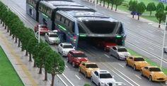 Presentan un colectivo que pasa por encima de los autos para evitar embotellamientos – Panorama Rosario