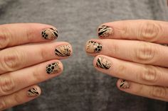 Mixed Animal Print Nails