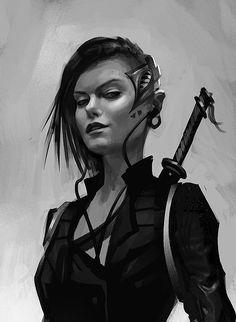 Teched out monster hunter, urban fantasy character inspiration Character Creation, Character Concept, Character Art, Concept Art, Cyberpunk Kunst, Cyberpunk Girl, Sci Fi Characters, Girls Characters, Science Fiction