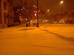 Snowy night in Georgia.