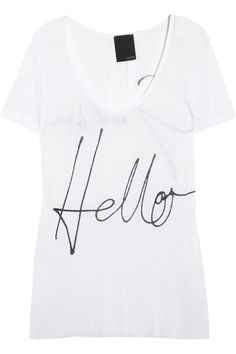 Lot78 Printed Modal Tee.... Why, hello there. ;)