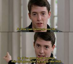 Matthew Broderick in Ferris Bueller's Day Off