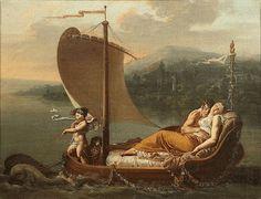 JEAN BAPTISTE MALLET (GRASSE 1759 - PARIS 1835) L'amour les conduit L'amitié