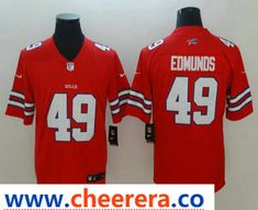 Men s Buffalo Bills  49 Tremaine Edmunds Red 2018 Color Rush Stitched NFL  Nike Limited Jersey 25f20419d
