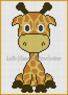15 Ideas crochet baby blanket animals cross stitch for 2020 Crochet Pixel, Graph Crochet, Cross Stitching, Cross Stitch Embroidery, Cross Stitch Patterns, Crochet Giraffe Pattern, Crochet Patterns, Bead Patterns, Knitting Patterns
