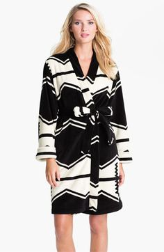 Lauren Ralph Lauren Sleepwear Zigzag Stripe Plush Robe available at #Nordstrom $78.00