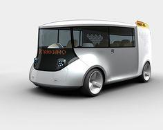 ECO Taxi by Andrey Chirkov in Fantastic Automotive Concept Cars Minibus, Future Transportation, Microcar, Train Truck, Futuristic City, Car Illustration, Mode Of Transport, Electric Cars, Concept Cars