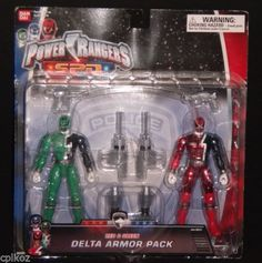 Power Rangers SPD Delta Pack Armor Red Green Space Patrol Action Figure New | eBay
