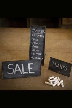 Metal Chalk Table Signs