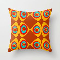 Mid Century Modern Pillow,Cool Pillow, Mod Pillow,Modern Yellow Pillow,Mod Throw Pillow,Cool Pillow, Cool Cushion, Retro Pillow, Mod Cushion