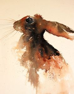 vesivärit: osittain tarkka The Magic of Watercolour Painting Virtual Gallery - Jean Haines, Artist - Hares Watercolor Animals, Watercolor Art, Watercolour Paintings, Rabbit Tattoos, Trash Polka, Virtual Art, Rabbit Art, Bunny Art, Art For Art Sake