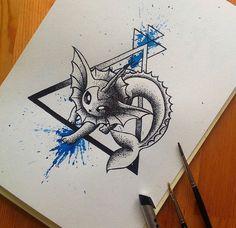 Pokemon vaporeon drawing