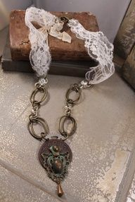 Lady in Lace necklace by HaveFaithDesigns on Etsy